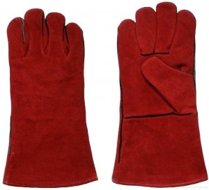 Red_Cow_Split_Leather_Winter_Welding_Gloves